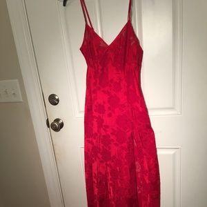 Victoria's Secret RED SHEER Long Gown sz S